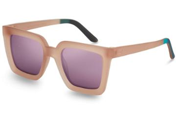 Toms Traveler By Toms Zuma Matte Smoke Lilac Lilac Mirror Lens Sunglasses With Violet Mirror Lens
