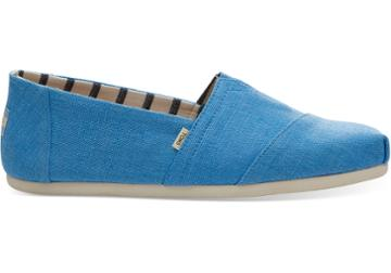 Toms Bliss Blue Heritage Canvas Mens Classics