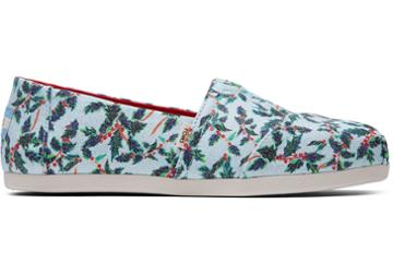 Toms Mint Holly Jolly Print Women's Classics
