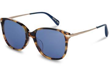 Toms Toms Sandela 201 Blonde Tortoise Sunglasses With Midnight Blue Lens