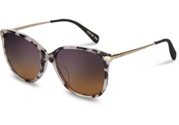 Toms Toms Sandela 201 Tokyo Tortoise Sunglasses With Violet Brown Gradient Lens