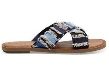 Toms Navy Coupe Denim Women's Viv Sandals