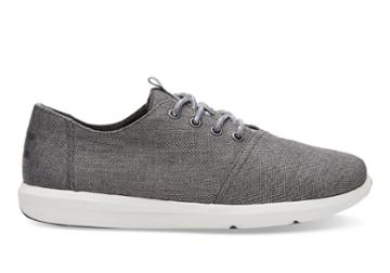 Toms Toms Steel Grey Poly Canvas Men's Del Rey Sneakers Shoes - Size 9
