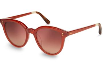 Toms Toms Aaryn Spice Bronze Double Gradient Mirror Lens Sunglasses With Rose Mirror Lens