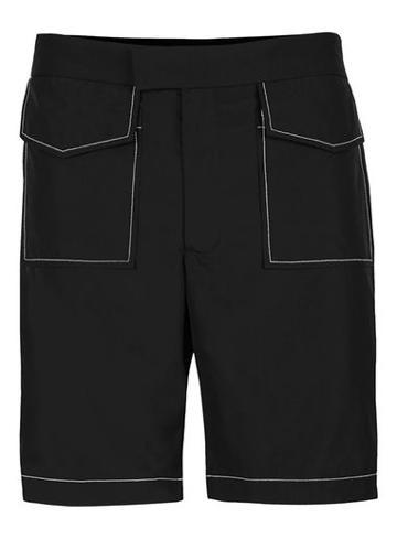 Topman Mens Topman Design Black Shorts