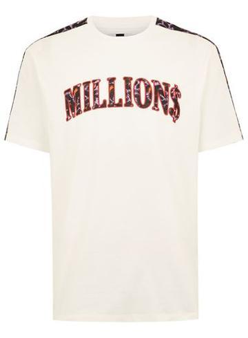 Topman Mens Cream 'millions' Slogan Ecru T-shirt