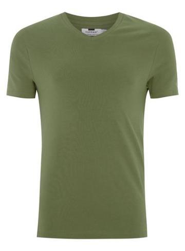 Topman Mens Khaki Ultra Muscle V-neck T-shirt