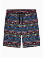 Topman Mens Purple Printed Shorts