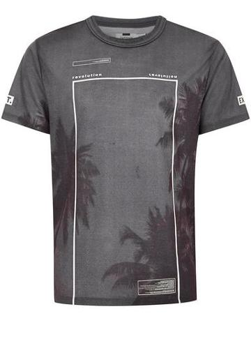 Topman Mens Black Printed T-shirt