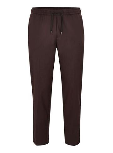 Topman Mens Red Burgundy Side Taping Smart Joggers