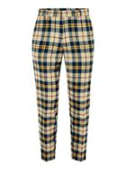 Topman Mens Yellow Check Relaxed Taper Pants