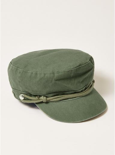 Topman Mens Khaki Teal Twill Mariner Hat