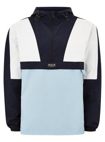 Topman Mens Nicce Blue Panel Cagoule Jacket