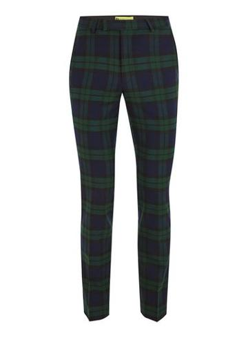 Topman Mens Noose & Monkey Green 'ginger' Check Pants