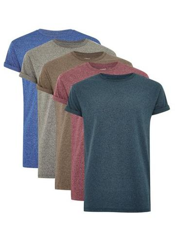 Topman Mens Assorted Color Muscle Fit T-shirt Multipack*