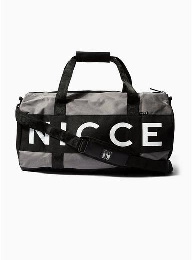 Topman Mens Nicce Grey Barrel Bag