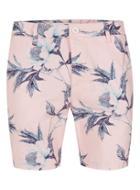 Topman Mens Pink Floral Skinny Chino Shorts
