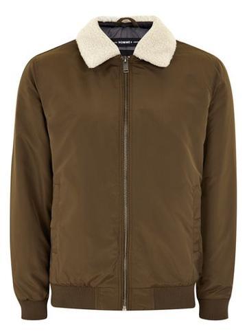 Topman Mens Selected Homme+ Brown Jacket
