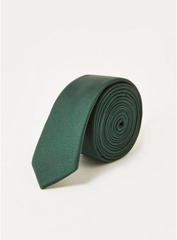 Topman Mens Skinny Green Tie