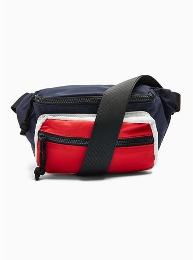 Topman Mens Multi Colour Block Cross Body Bag