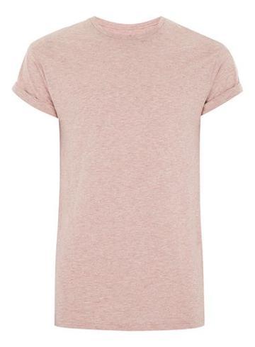 Topman Mens Orange Rust Slub Muscle Roller T-shirt