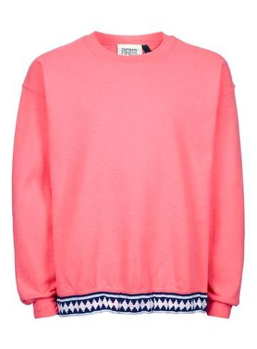 Topman Mens Topman Finds Pink Vintage Sweatshirt