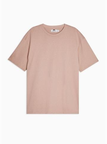 Topman Mens Dusty Pink Oversized T-shirt