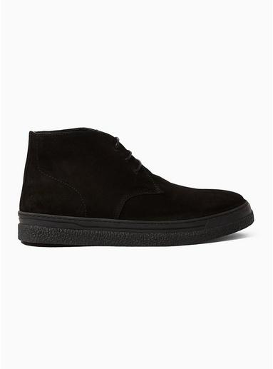 Topman Mens Black 'acton' Chukka Boots
