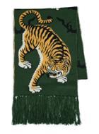Topman Mens Multi Green Tiger Jacquard Scarf