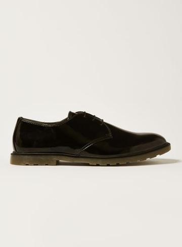 Topman Mens Black Preston Derby Shoes