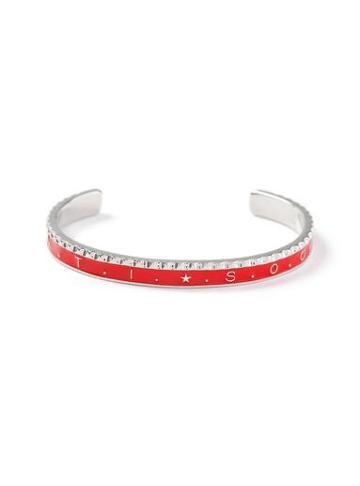 Topman Mens Red Silver Cuff Bracelet*