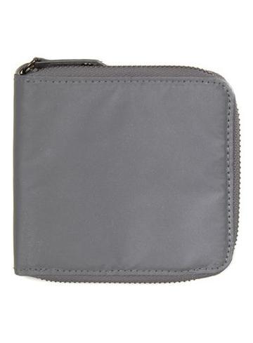 Topman Mens Metallic Silver Reflective Zip Wallet