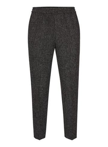 Topman Mens Grey Charcoal Side Pipe Dress Joggers