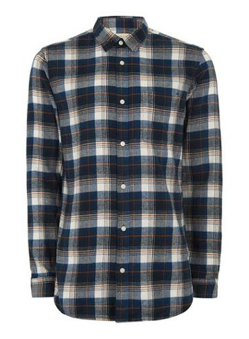 Topman Mens Selected Homme Tall Blue Check Shirt*
