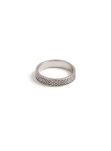 Topman Mens Silver Textured Ring*
