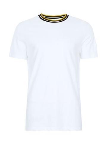 Topman Mens White Tipped Smart T-shirt