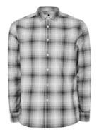 Topman Mens Grey Pixel Checked Casual Shirt