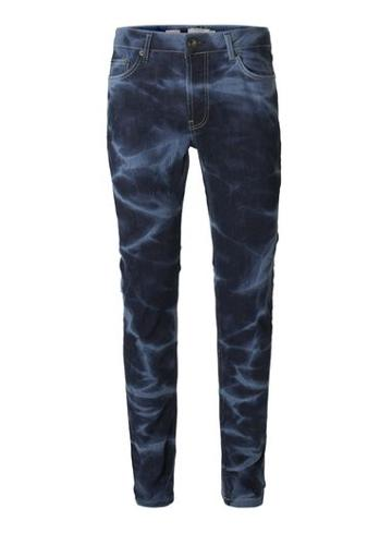 Topman Mens Blue Marble Wash Stretch Skinny Jeans