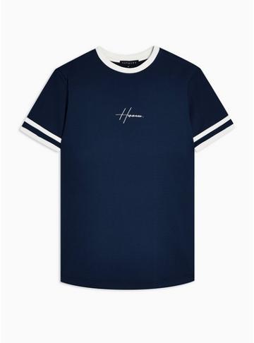 Hermano Mens Hermano Navy Chest Logo T-shirt