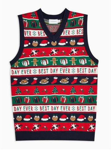 Topman Mens Multi Holiday Best Day Knitted Tank
