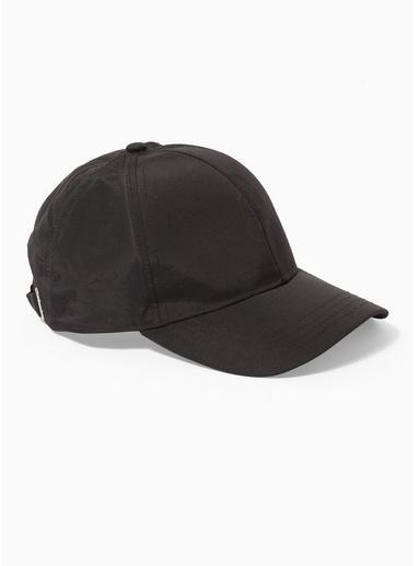 Topman Mens Black Tech Curve Peak Cap