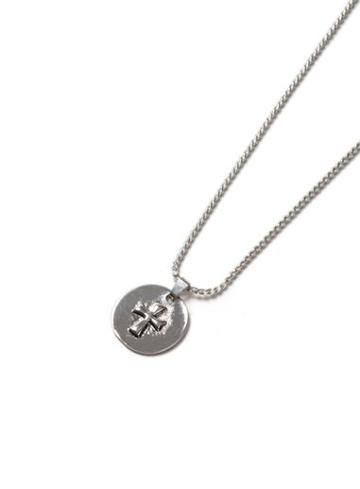 Topman Mens Silver Look Disk Cross Necklace*