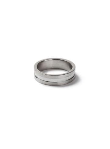 Topman Mens Silver Look Rldge Band Ring*
