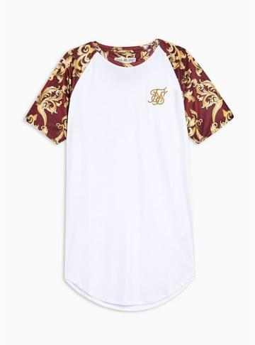 Sik Silk Mens Red Siksilk Burgundy Royal Raglan T-shirt