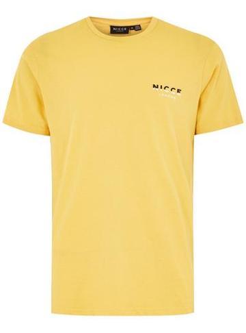Topman Mens Nicce Yellow Split T-shirt
