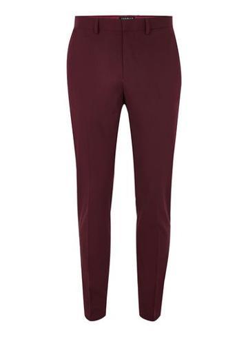 Topman Mens Red Burgundy Skinny Tux Pants