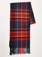 Topman Mens Multi Navy And Red Check Scarf