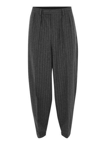 Topman Mens Grey Topman Design Pinstripe Pants