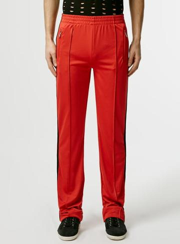 Topman Mens Topman Design Red Tracksuit Pants