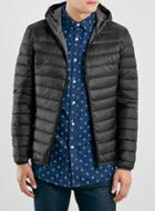Topman Mens Schott Black Puffer Jacket